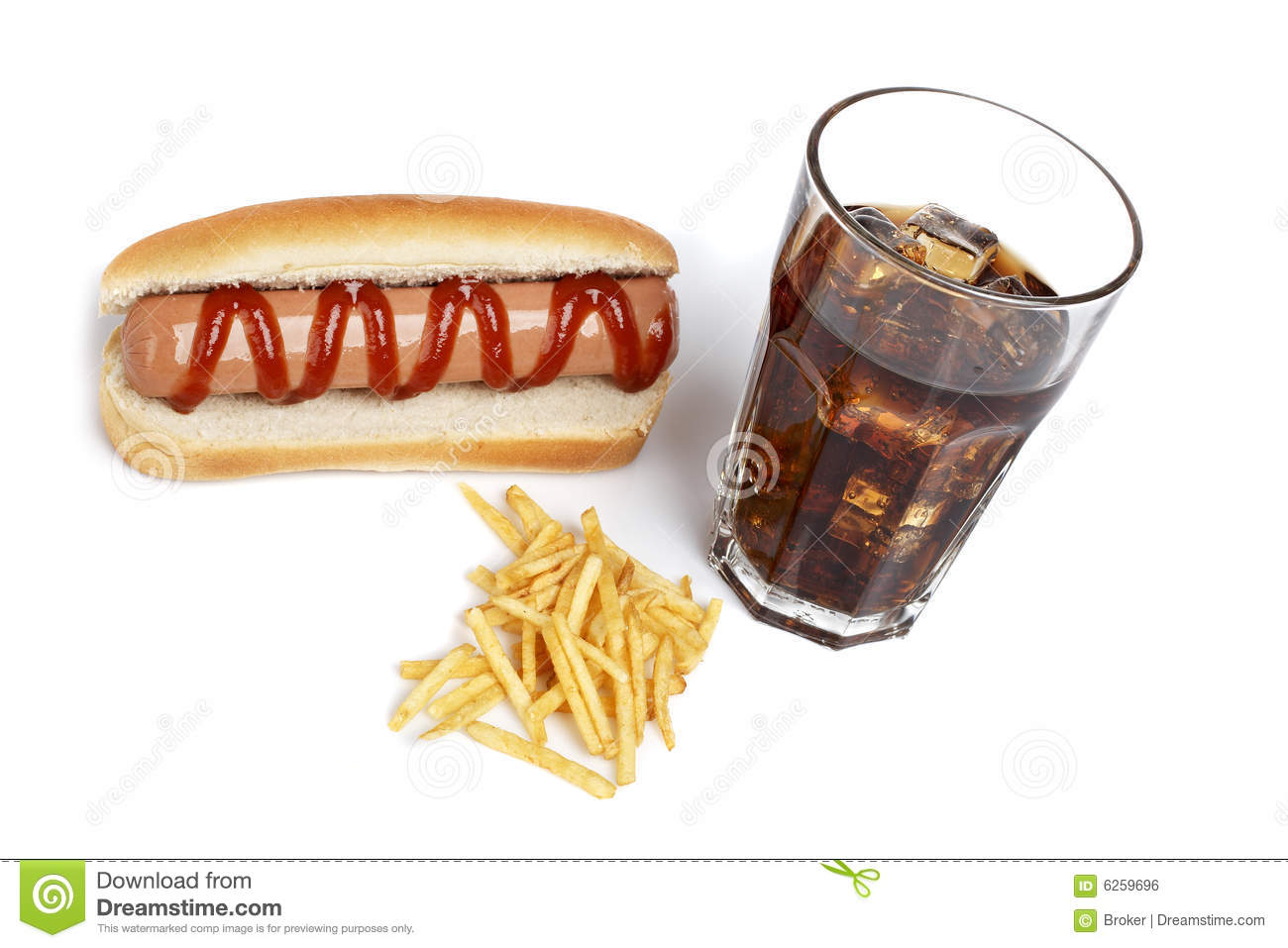 Hot Dog Soda And French Fries Stock Photo Image Of Chips Meat