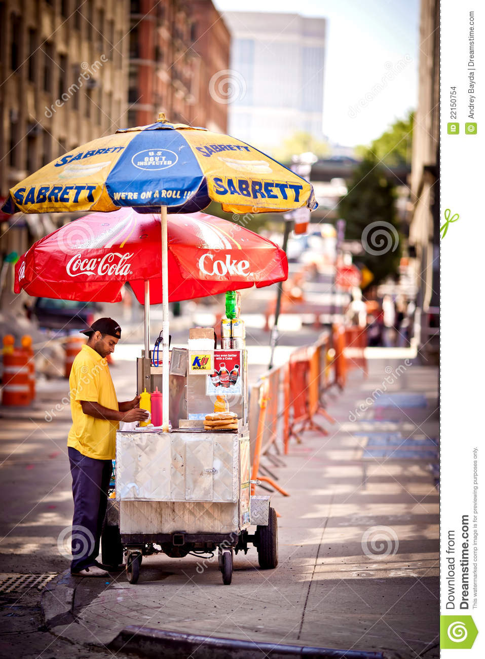 Selling Hot Dogs On The Street