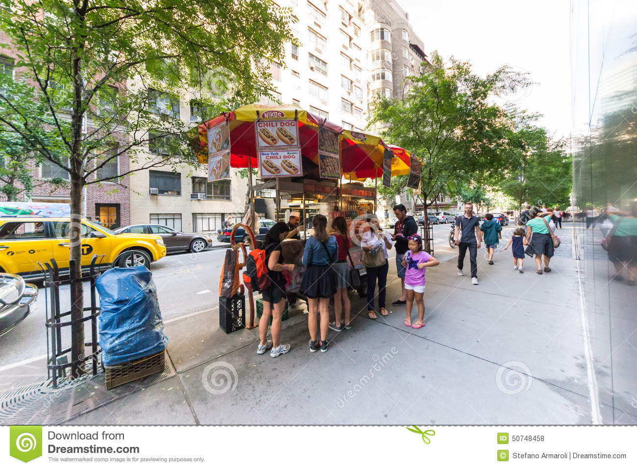 Hot dog stand editorial stock photo  Image of concession