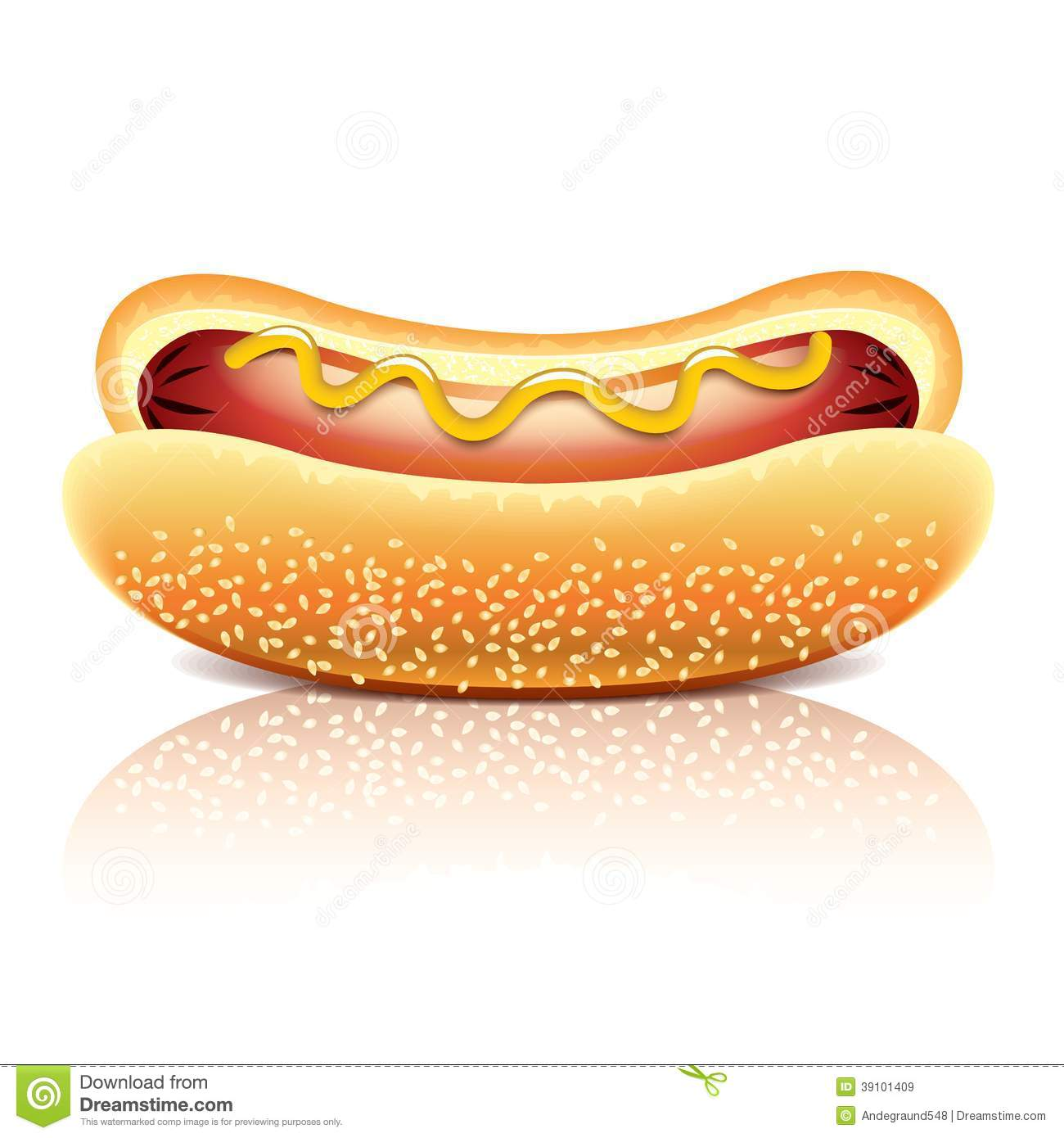 Hot Dog Vector Free