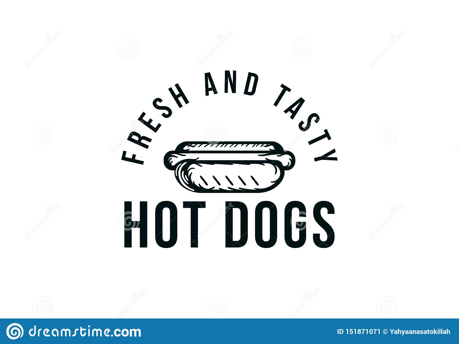 hot dog vector logo, fast food, junk food. vintage vector illustration.