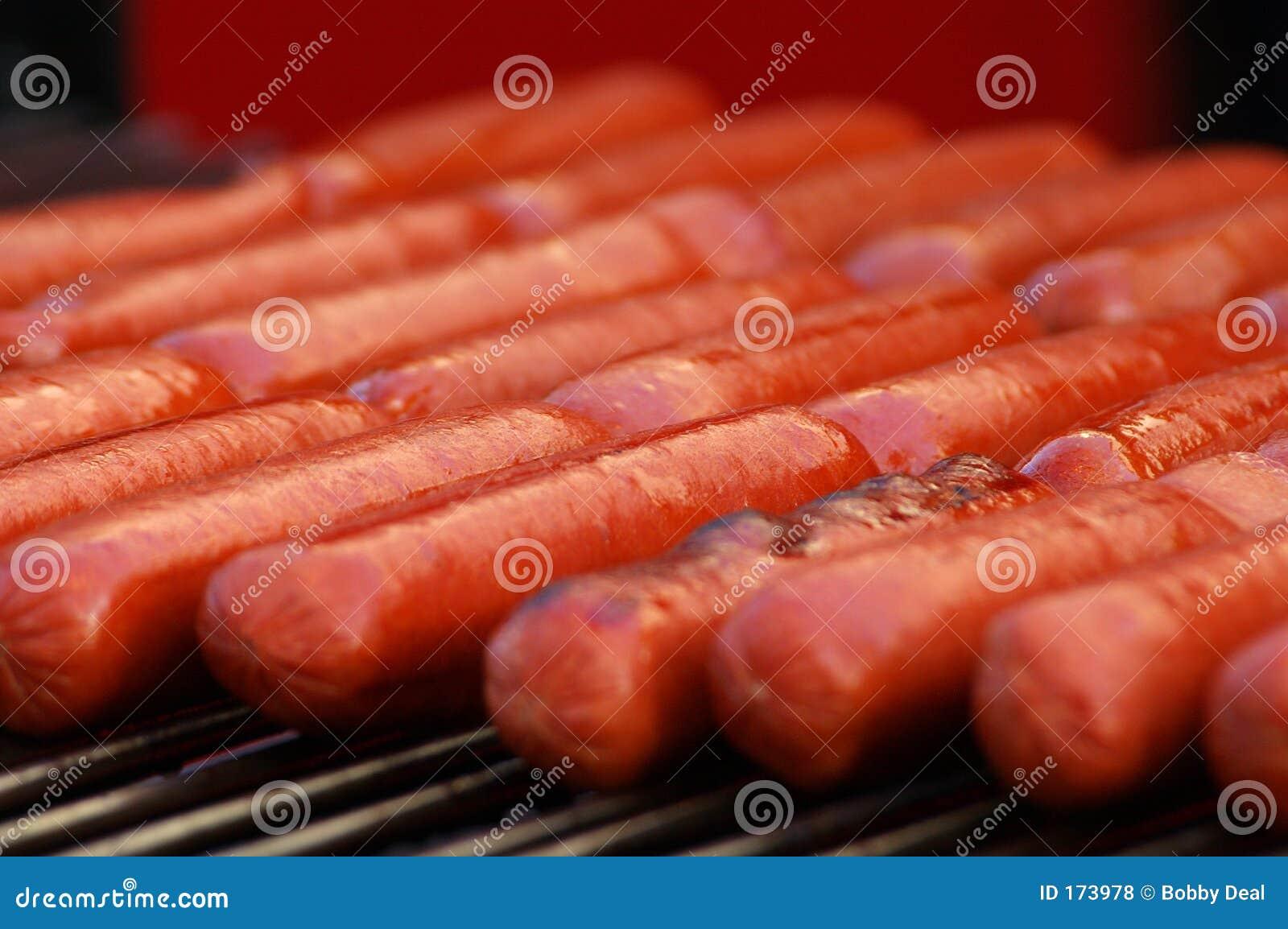 Hot dogs Closeup
