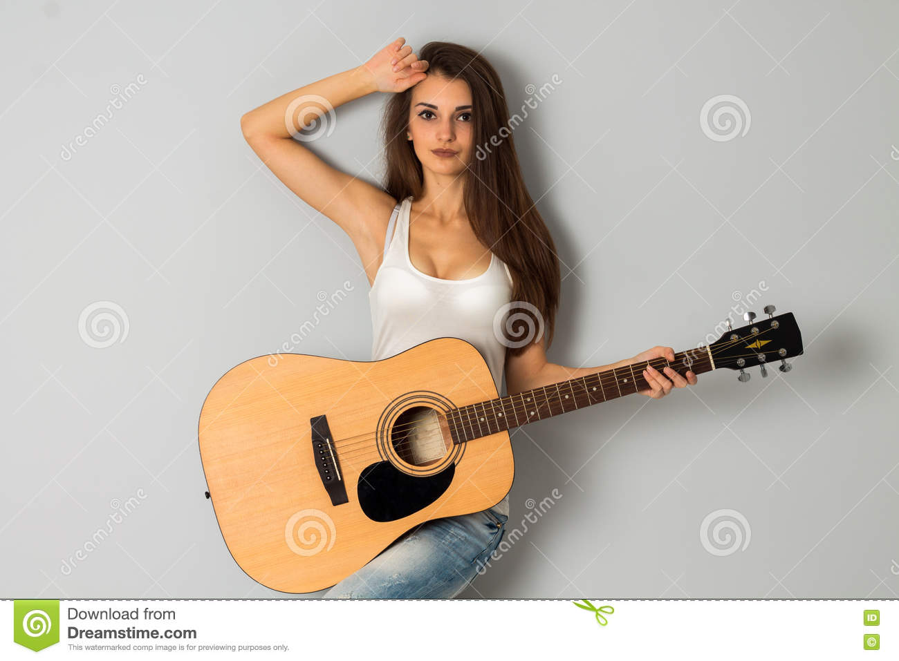 guitars with Hot girls