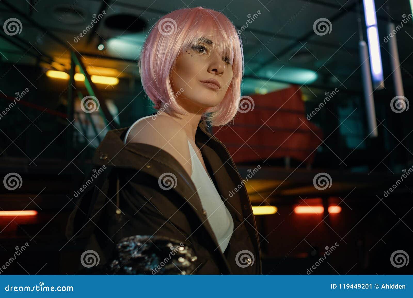Girl and Nightclub life stock image  Image of design - 119449201