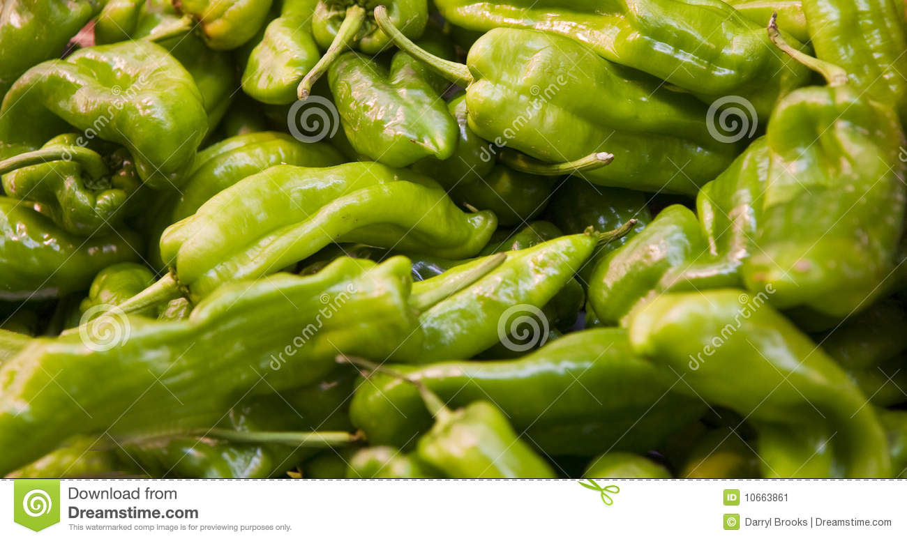 Hot Green Peppers Stock Image - Image: 10663861