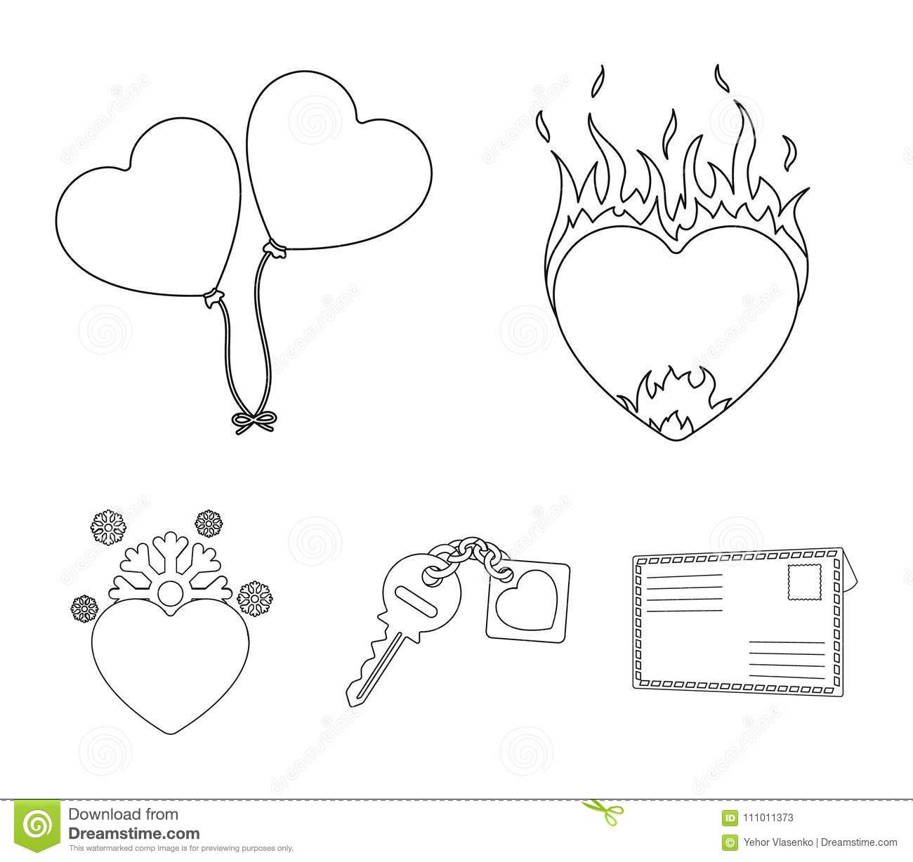 Hot heart balloons a key with a charm a cold heart romantic