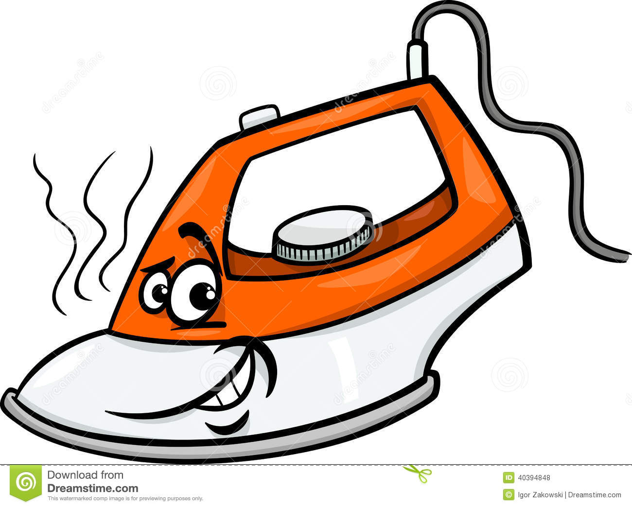 Hot Iron Cartoon Illustration Stock Vector - Image: 40394848