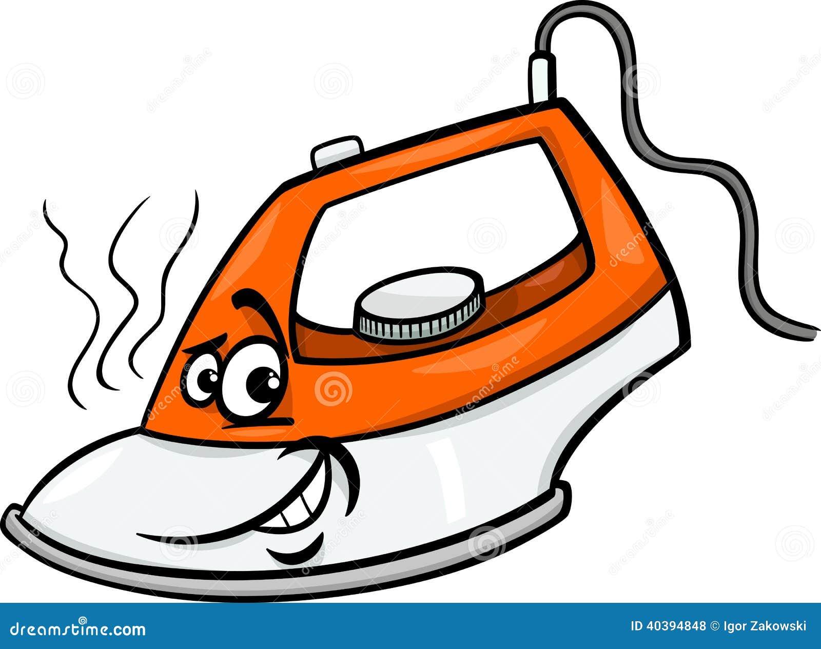 Hot Iron Cartoon Illustration Stock Vector Illustration Of