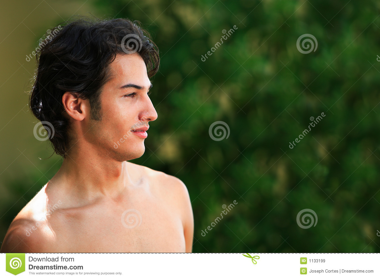Hispanic male model on the beach Summer love, romance and a happy ...