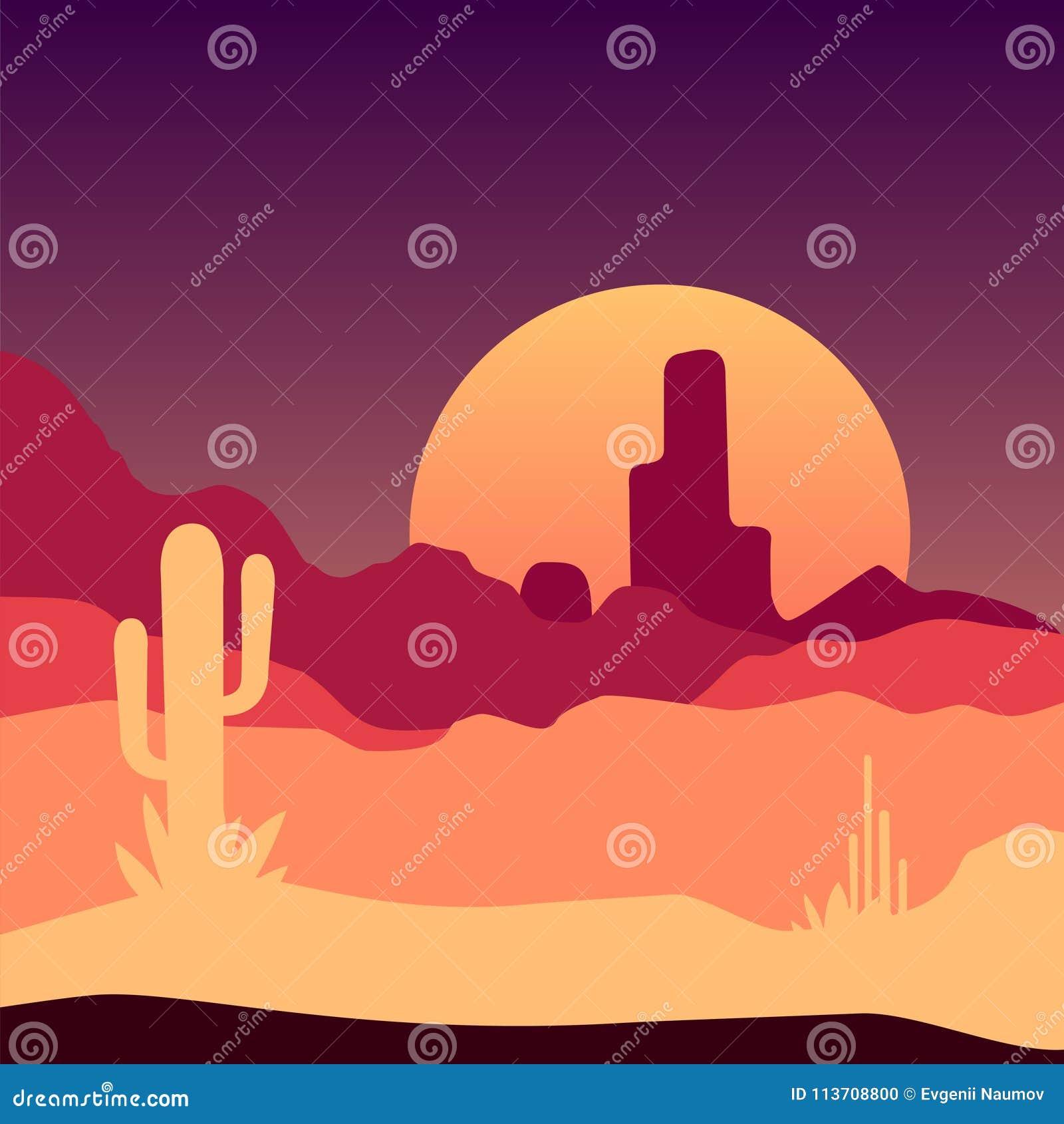 sunrise in mexican desert landscape with cactus plants and rocky rh dreamstime com Beach Clip Art Cartoon Sunrise Clip Art