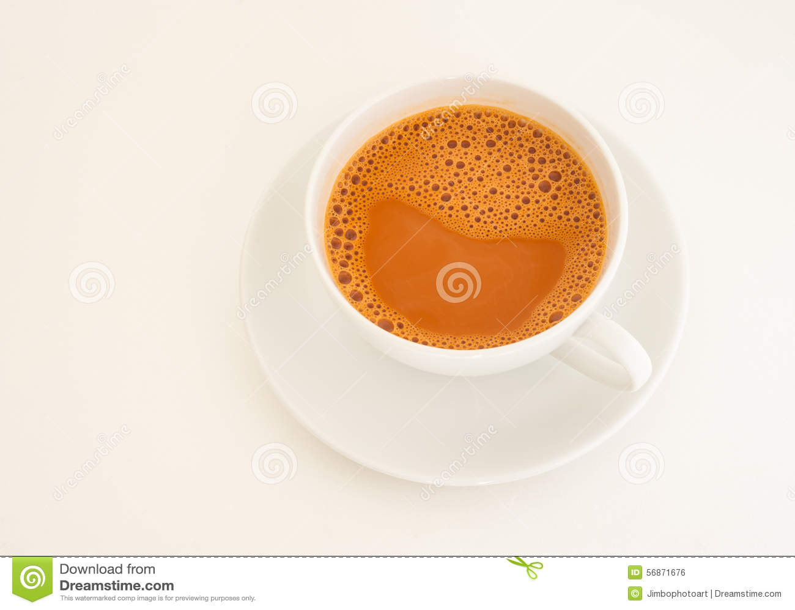 Hot Milk Tea In Cup Stock Photo - Image: 56871676