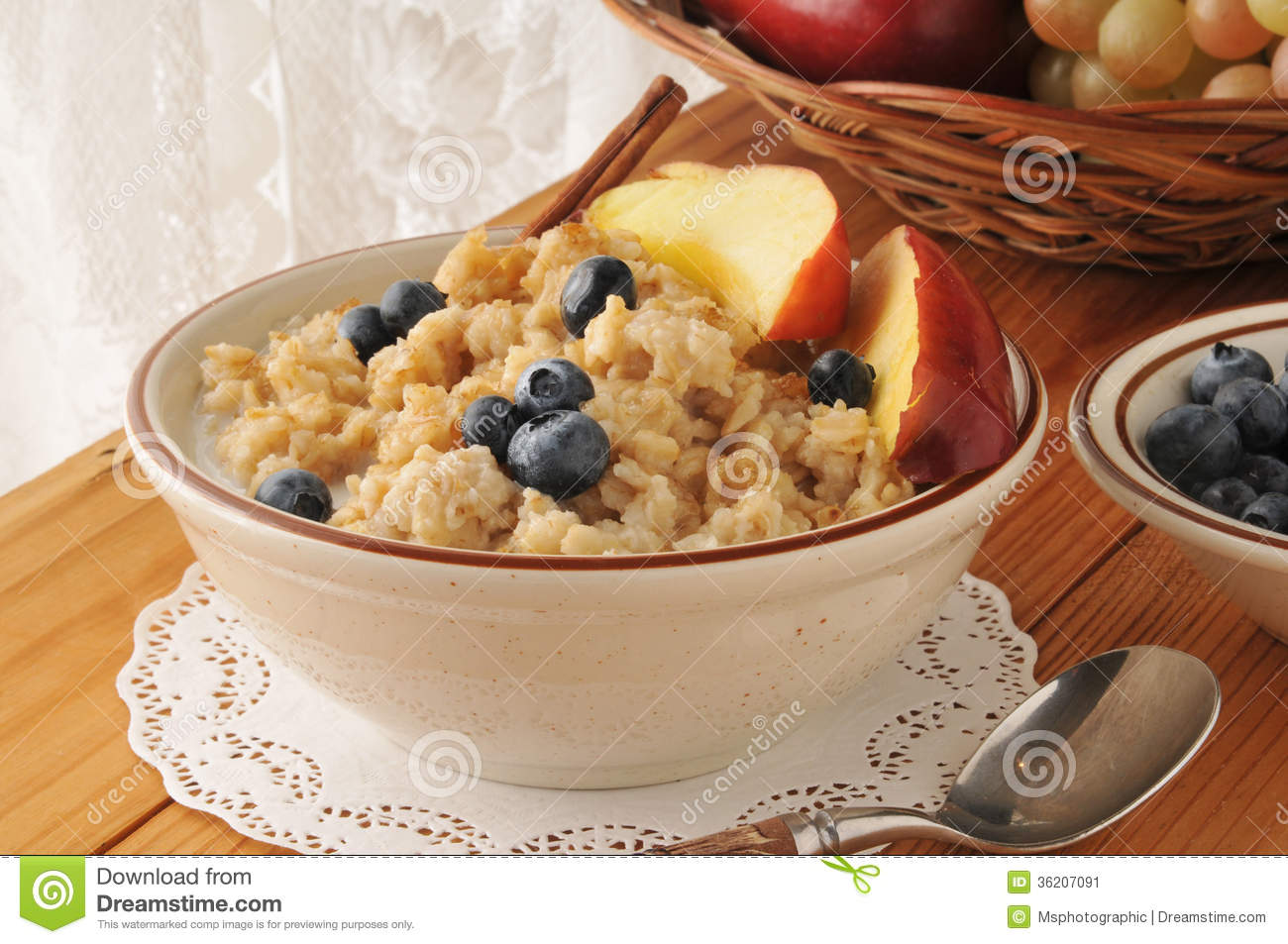 Hot Oatmeal Cereal Stock Image Image Of Milk Brown