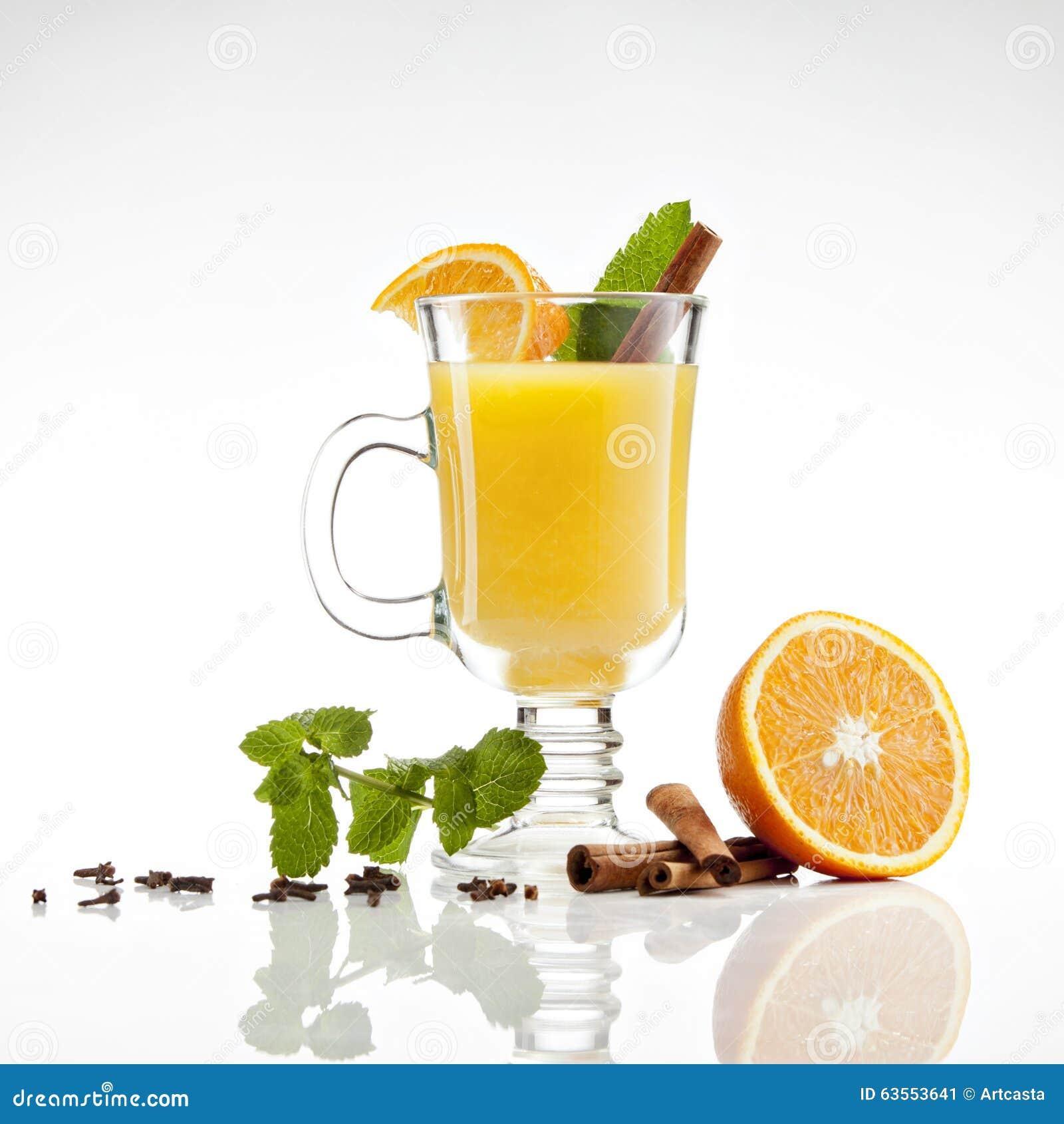 Hot orange tea