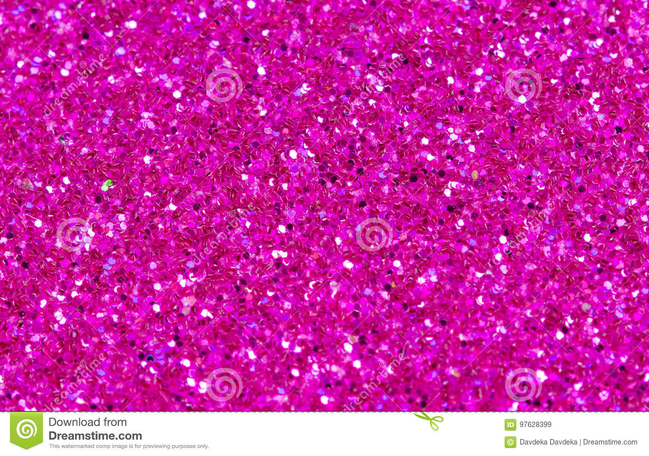 Hot pink abstract background. Pink glitter closeup photo. Pink shimmer wrapping paper.