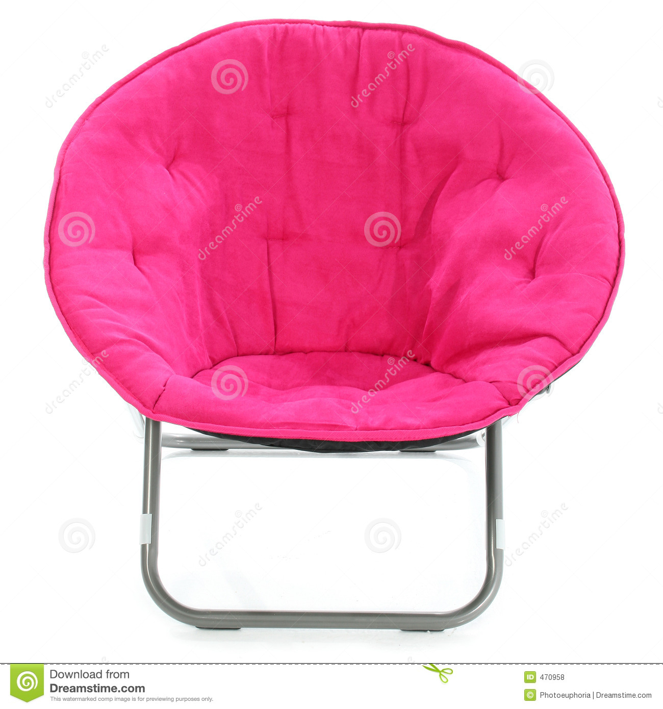 Hot Pink Chair Over White Stock Photo Image Of Fabric