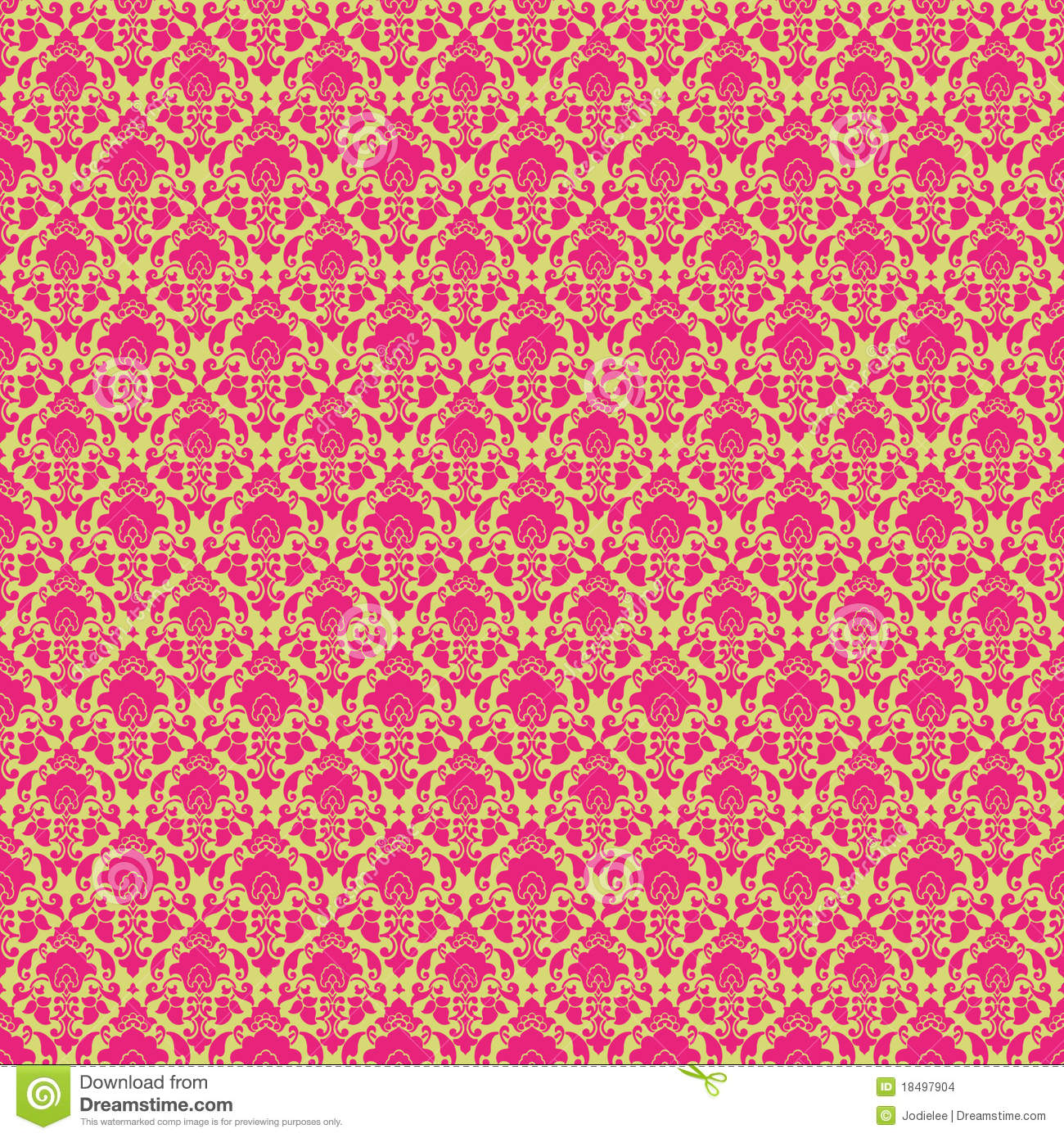 hot pink  u0026 green vintage paisley damask wallpaper stock
