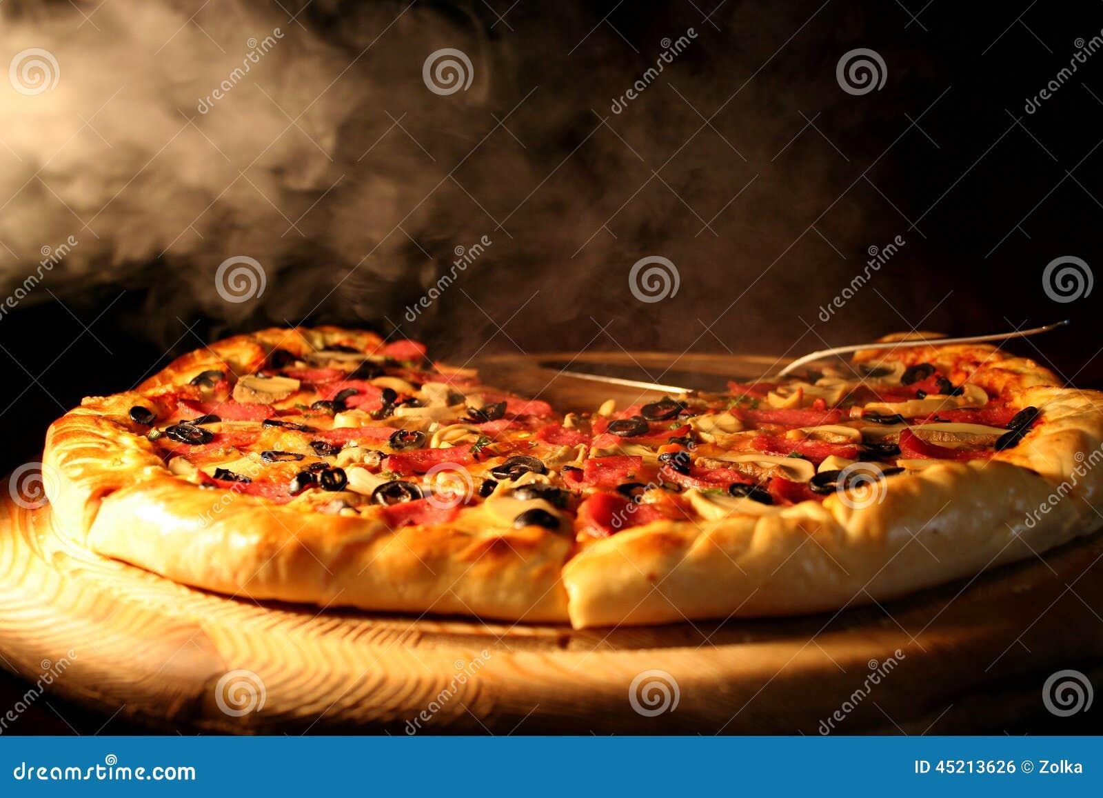 hot pizza stock photo image 45213626. Black Bedroom Furniture Sets. Home Design Ideas