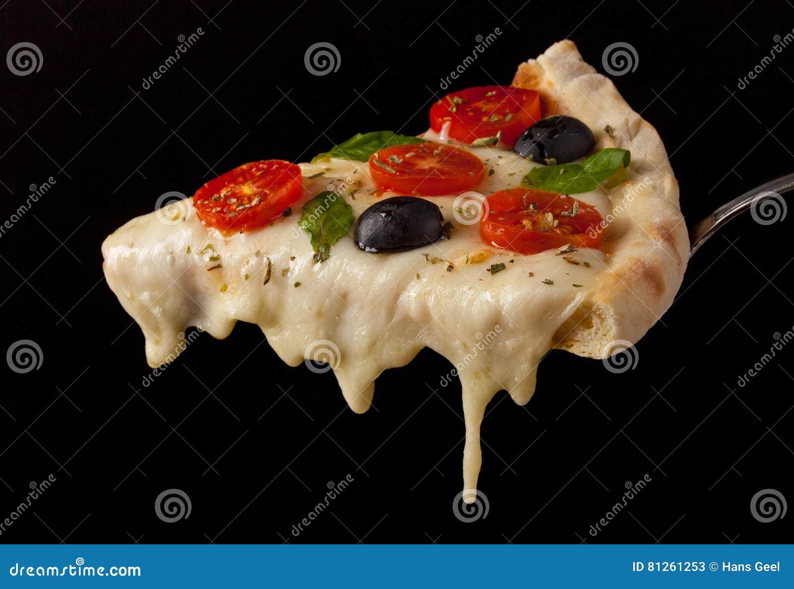 Hot pizza slice