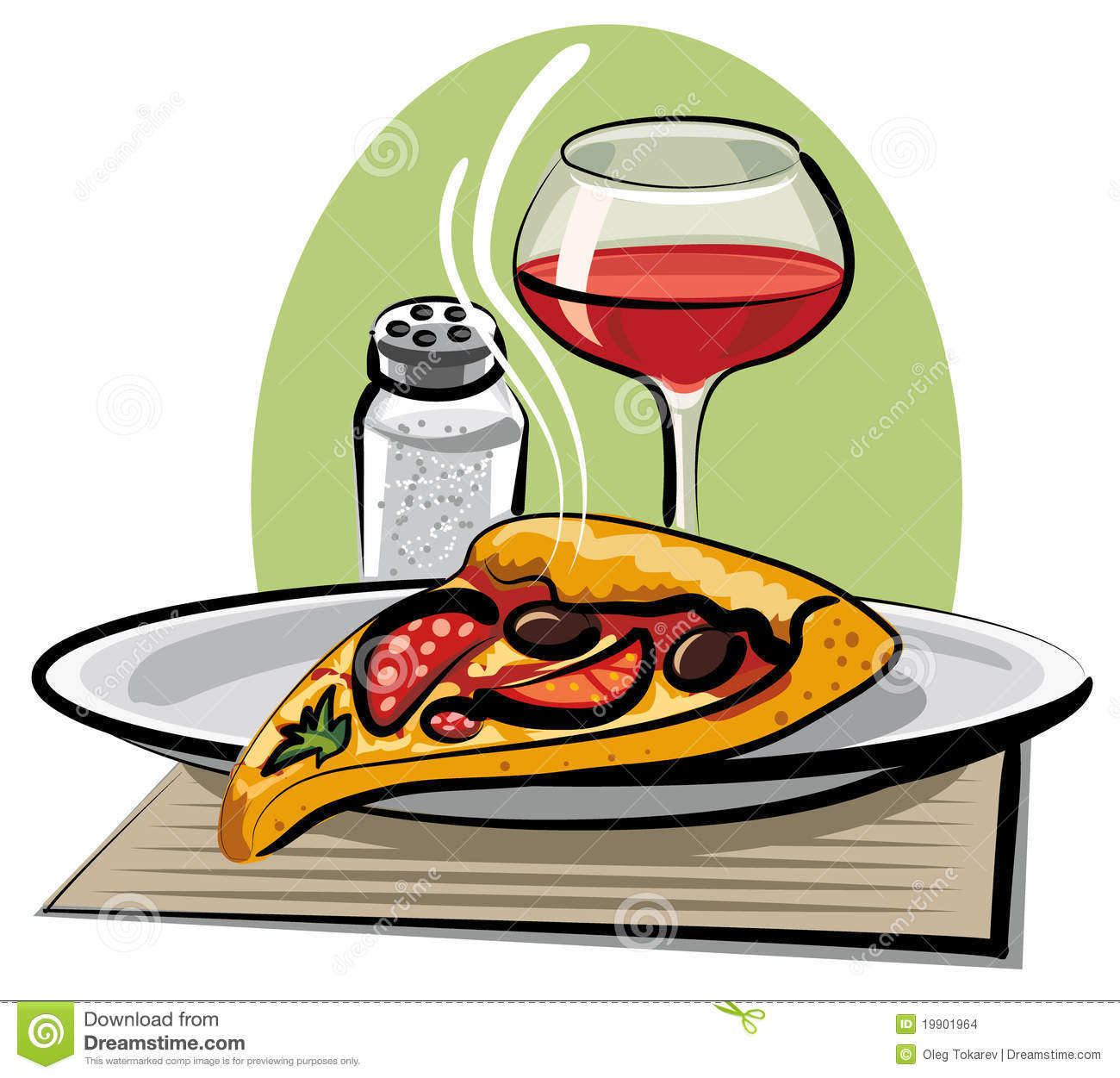 Hot pizza and wine stock illustration Illustration of  : hot pizza wine 19901964 from www.dreamstime.com size 1300 x 1251 jpeg 150kB
