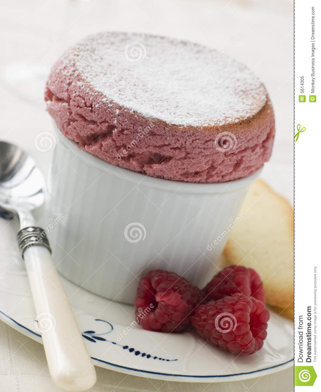 hot raspberry souffle with langue de chat biscuits royalty. Black Bedroom Furniture Sets. Home Design Ideas