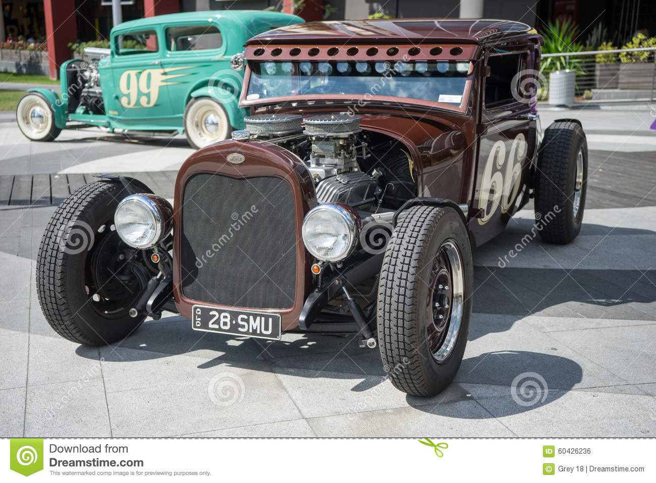 Hot rod car show editorial photo. Image of brown, antique - 60426236