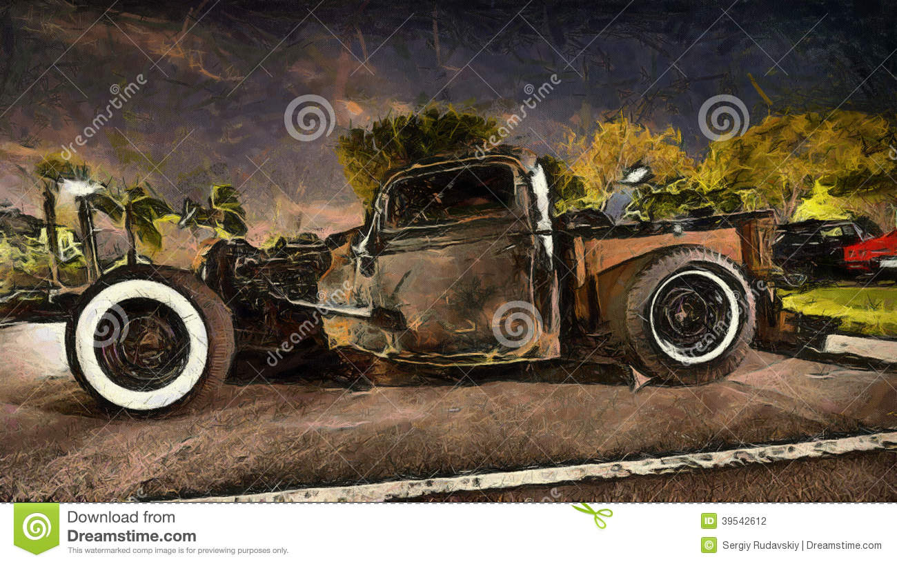 Hot rod classic stock illustration. Illustration of first - 39542612