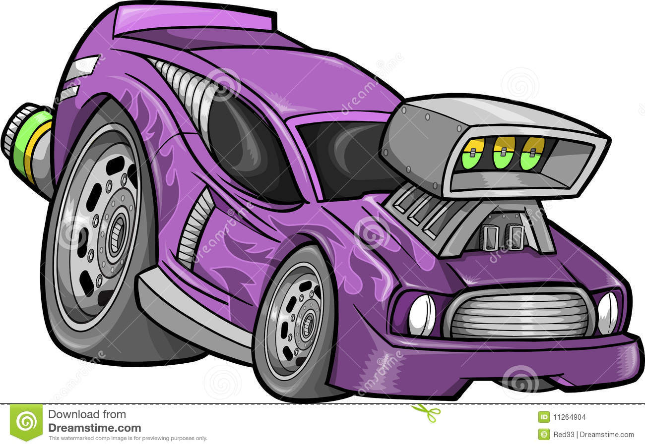 Hot-Rod Race-Car Vector stock vector. Illustration of sports - 11264904