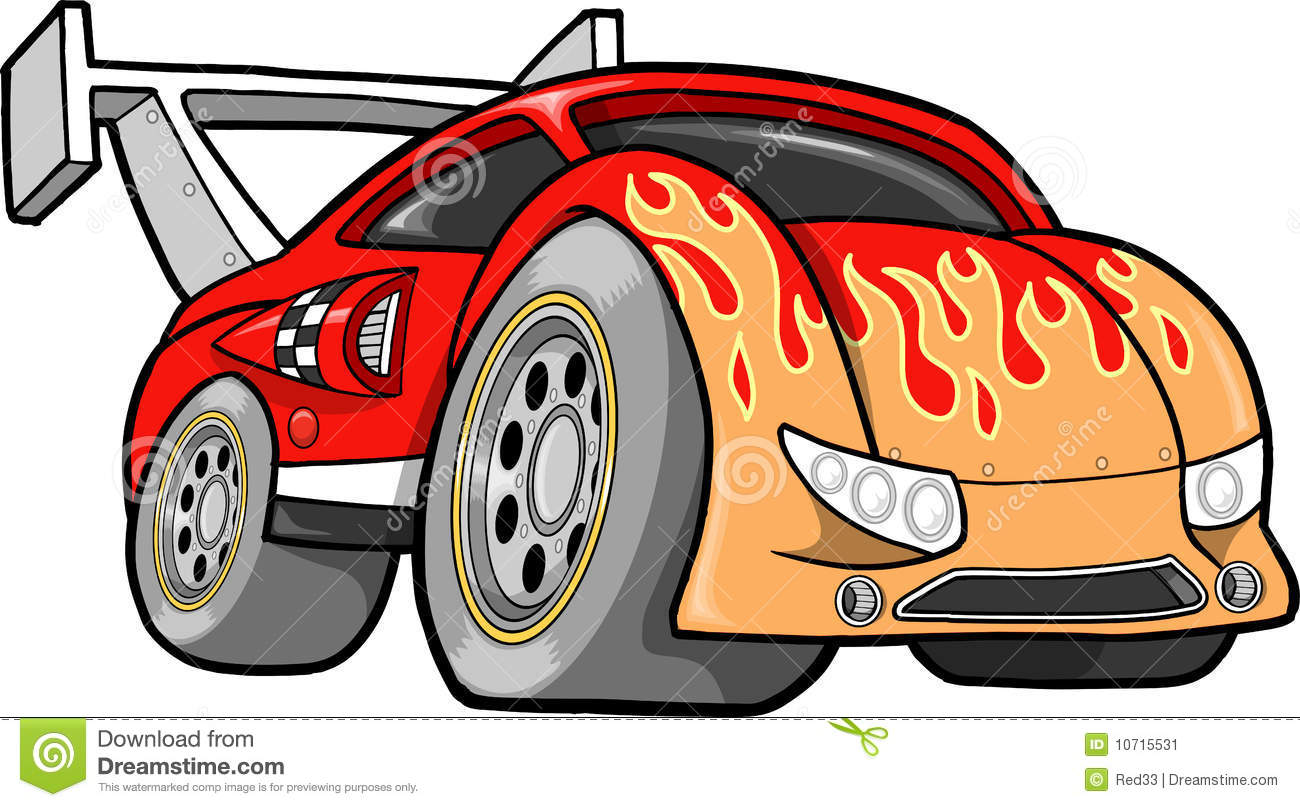 Hot-Rod Race-Car Vector Illustration Stock Vector - Illustration of ...