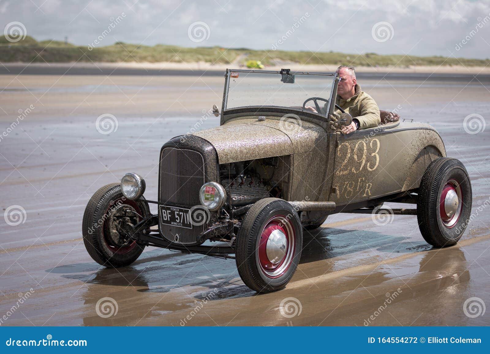 Hot Rod Races - Hot Rod Mit Minnesota Anmeldung Am Strand