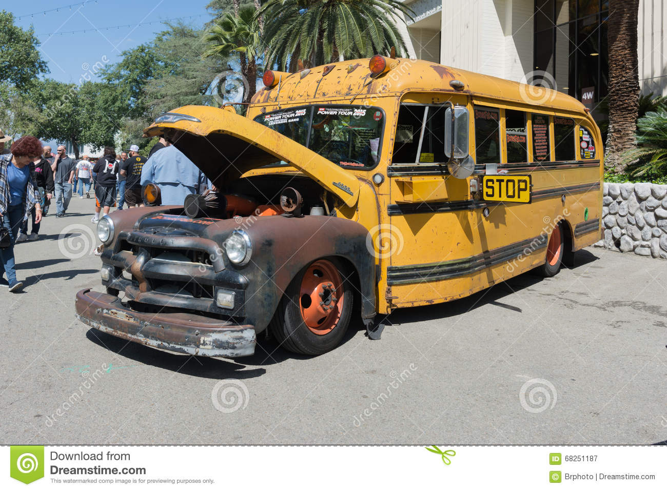 Hot Rod School Bus Editorial Photography - Image 68251187-8653