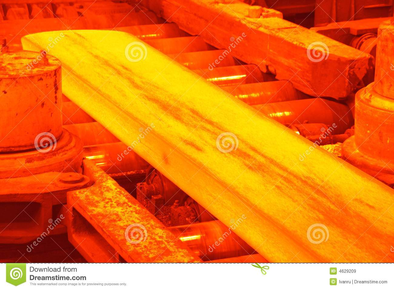 Hot Rolling Mill Stock Image Image Of Fused Shop