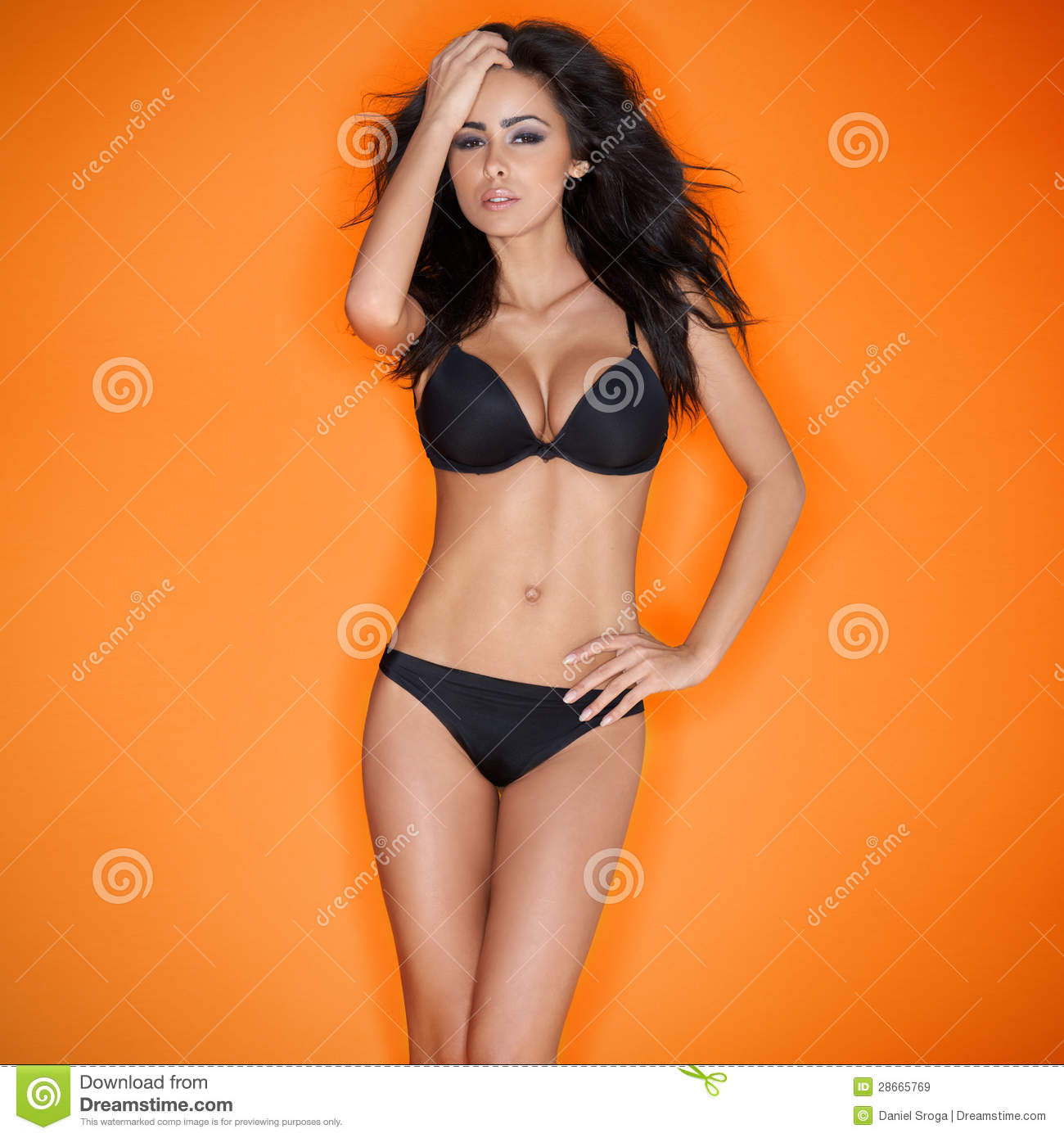 Hot sensual brunette young woman royalty free stock images image