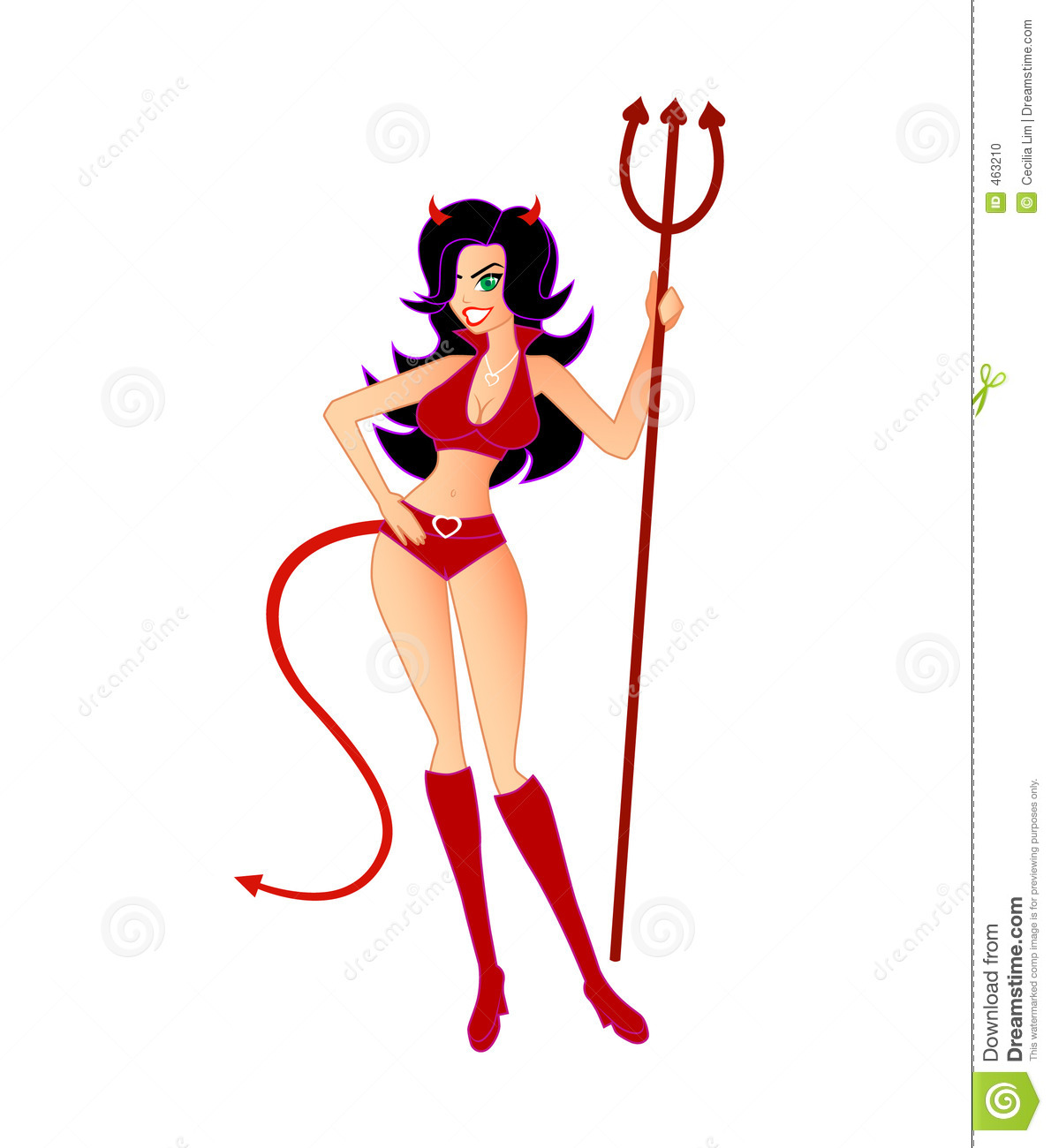 Hot She Devil Isolated Stock Vector Image Of Babe