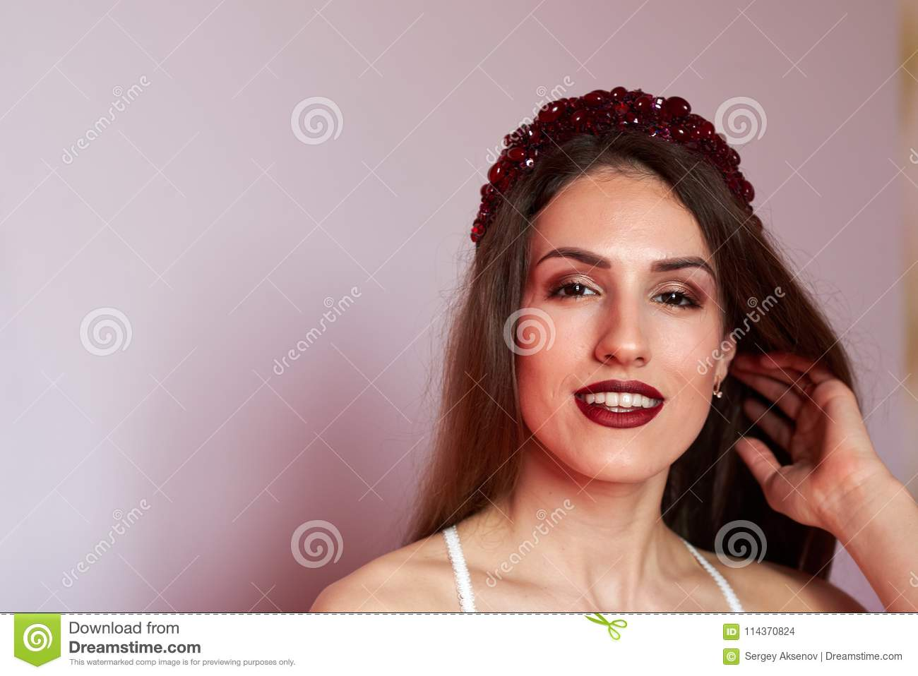 Young Pretty Woman In A Hotel Room Stock Photo Image Of Blonde