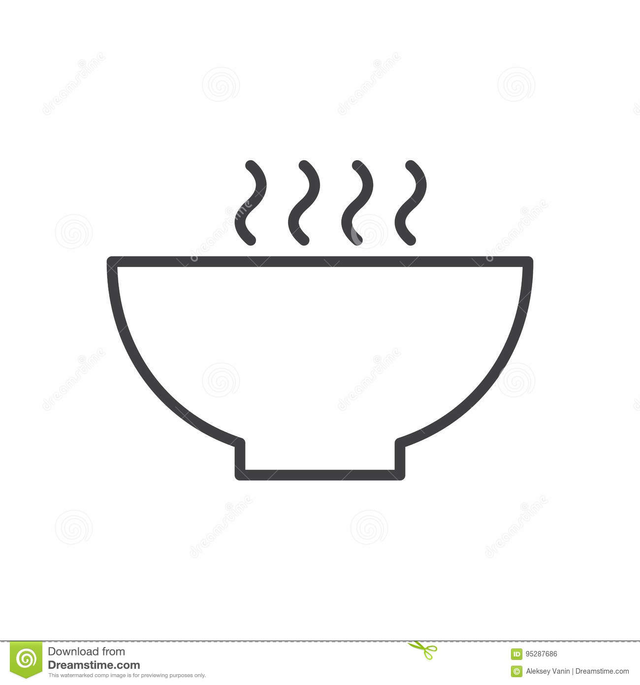 hot soup bowl line icon outline vector sign linear style Soup Bowl Template Printable Bowl of Soup  sc 1 st  Clipart Library & Soup Bowl Outline - Clipart Library \u2022