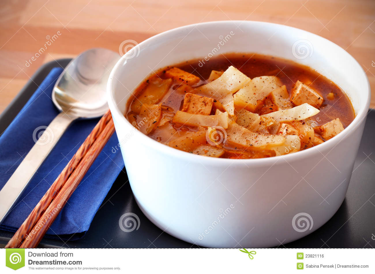 Hot And Sour Chinese Cabbage Soup Royalty Free Stock Image - Image ...