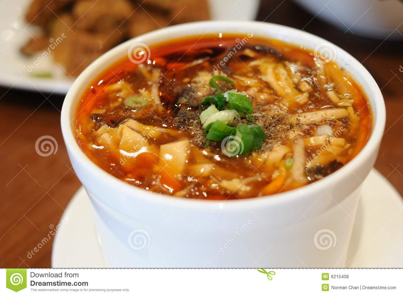 Hot And Sour Soup Royalty Free Stock Photos - Image: 6215408