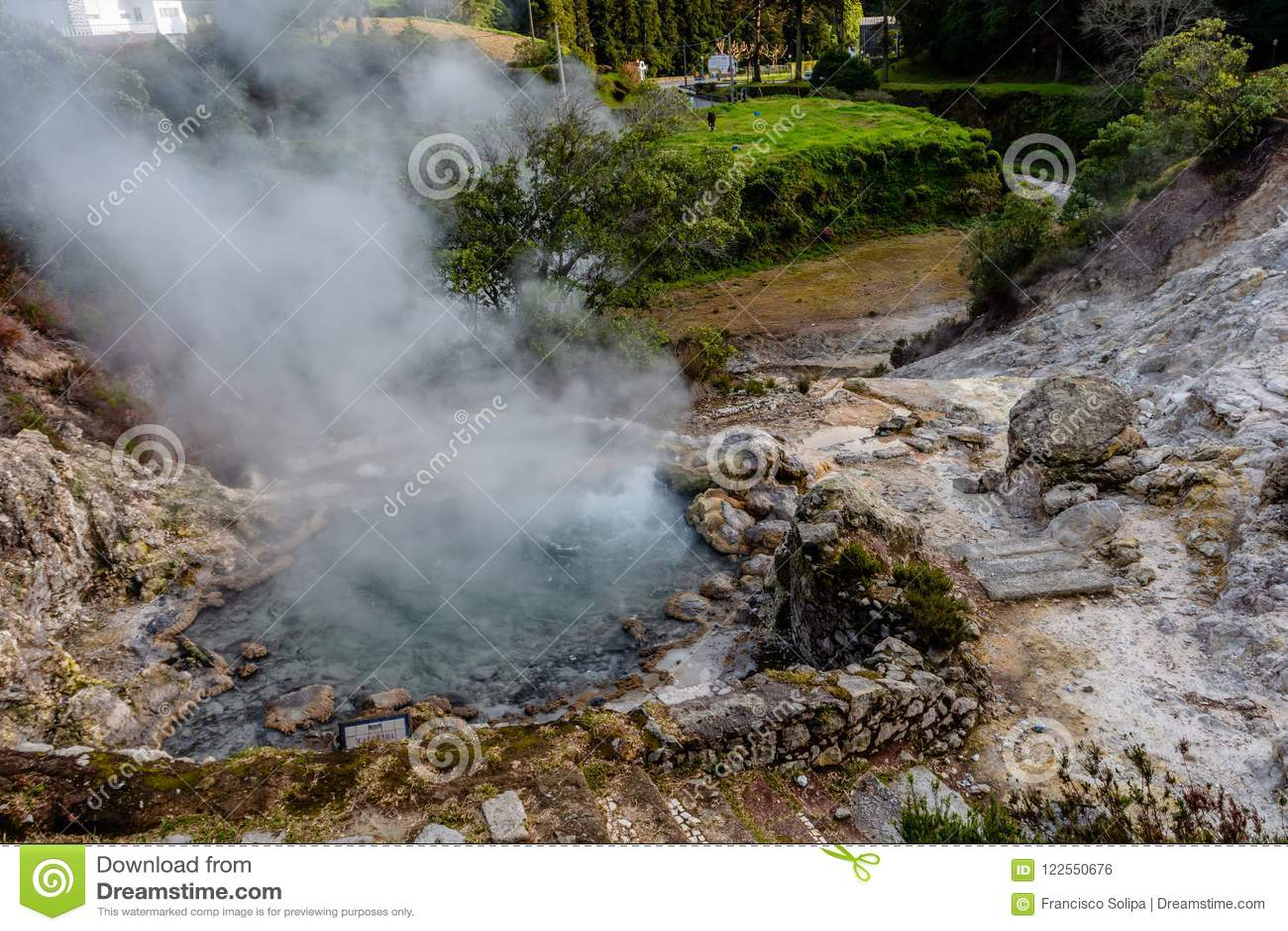 Hot springs, Furnas, Sao Miguel Island, Azores, Portugal