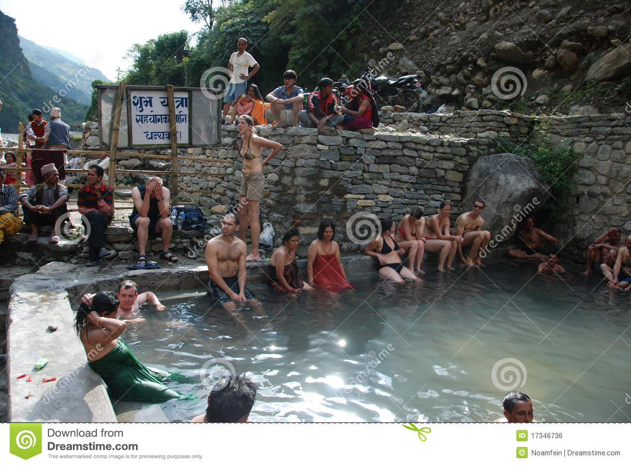 Hot Springs In Nepal Editorial Photo Image 17346736
