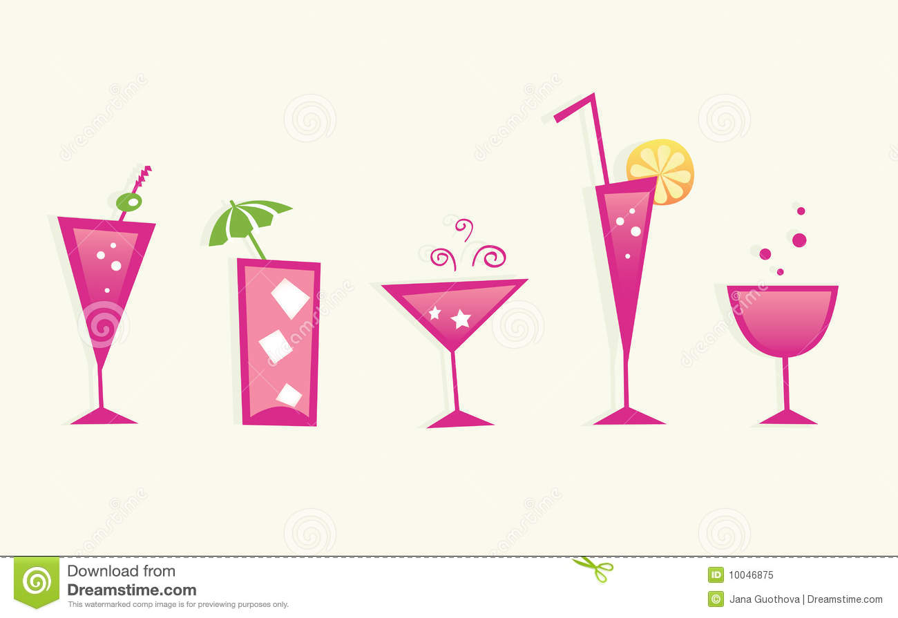 hot summer drinks and cocktail glasses vector stock vector illustration 10046875. Black Bedroom Furniture Sets. Home Design Ideas