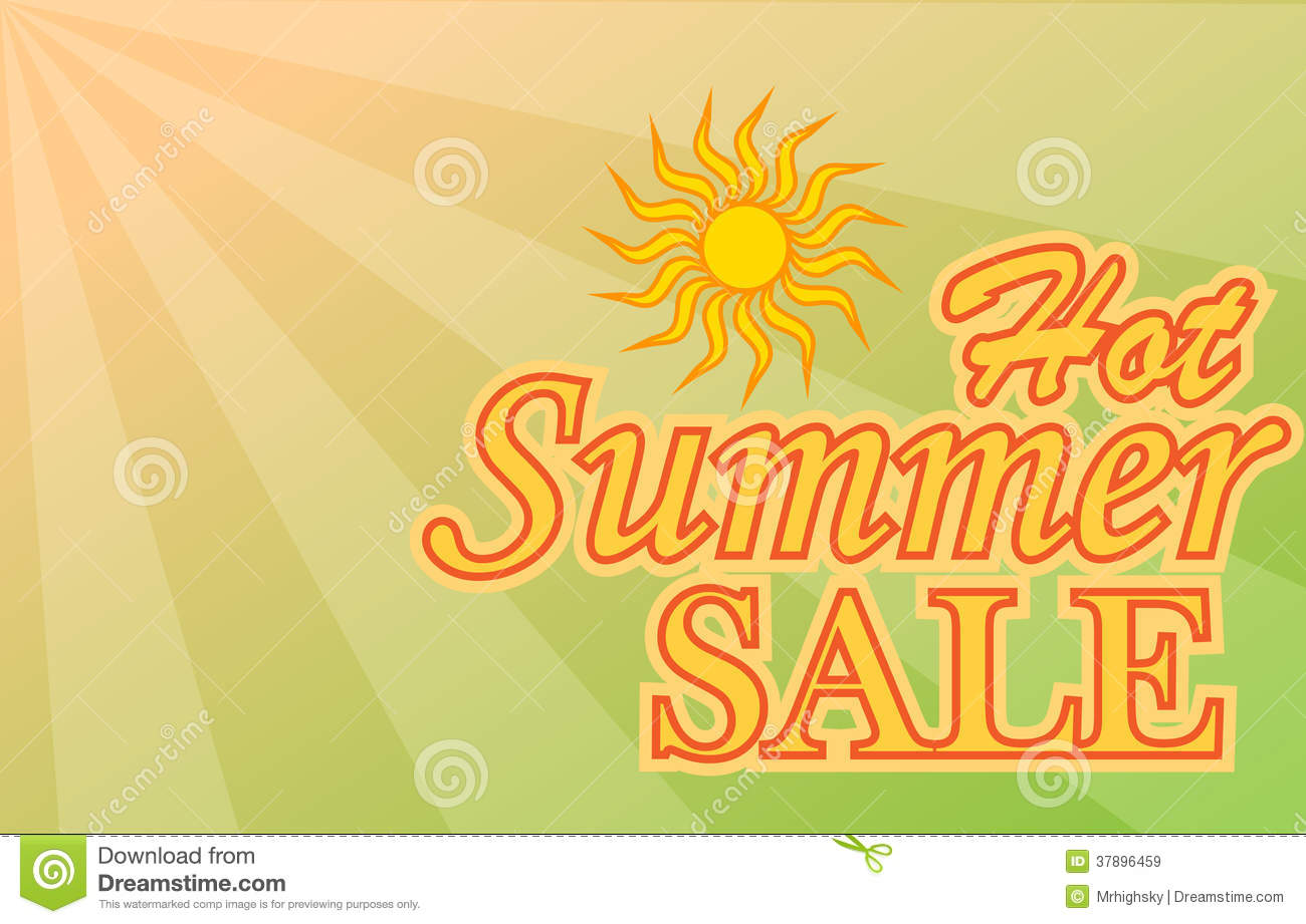 Hot Summer Sale Banner Royalty Free Stock Images - Image ...