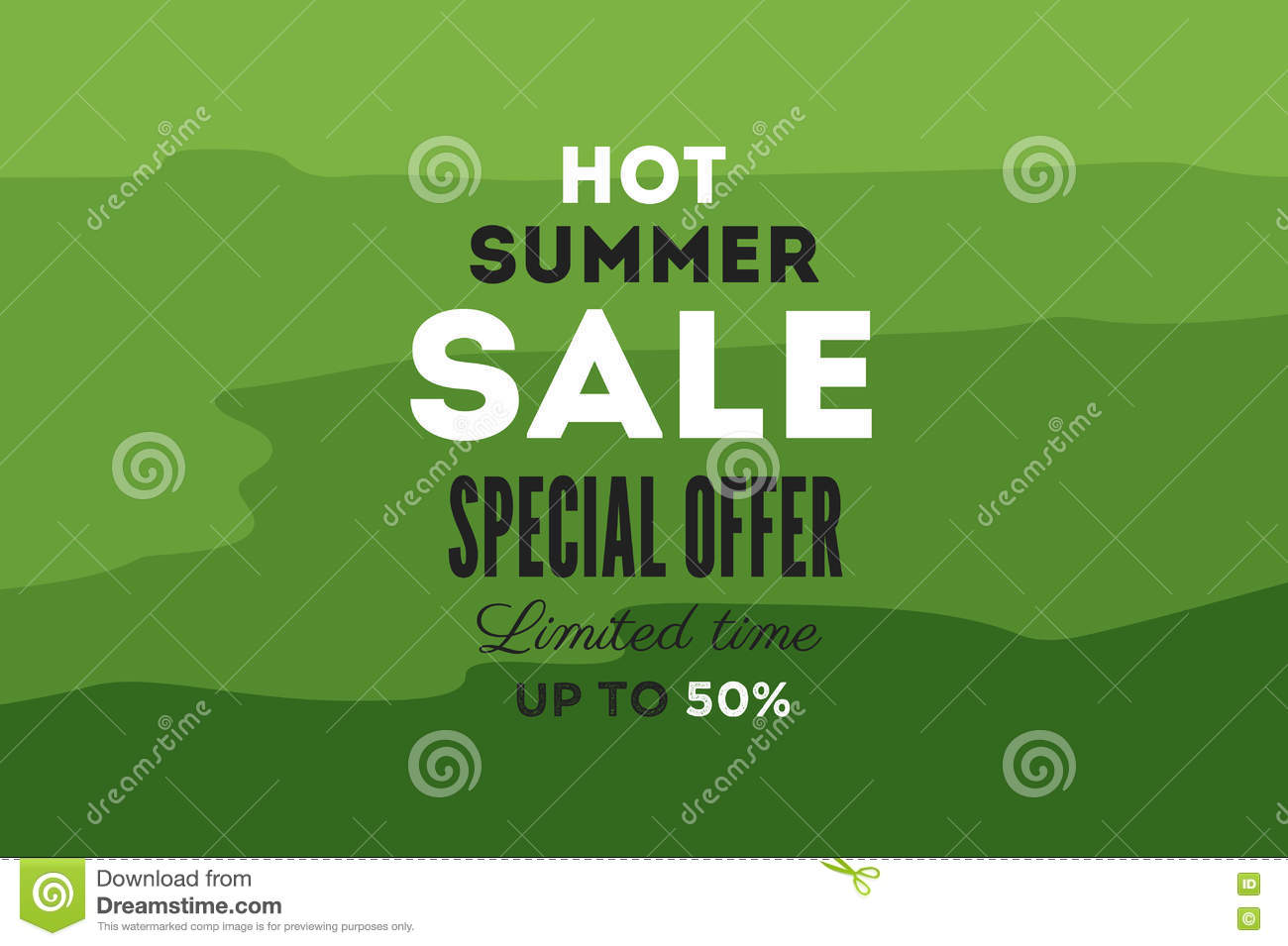 hot summer sale banner vector discount banner template retro styled typography label stock