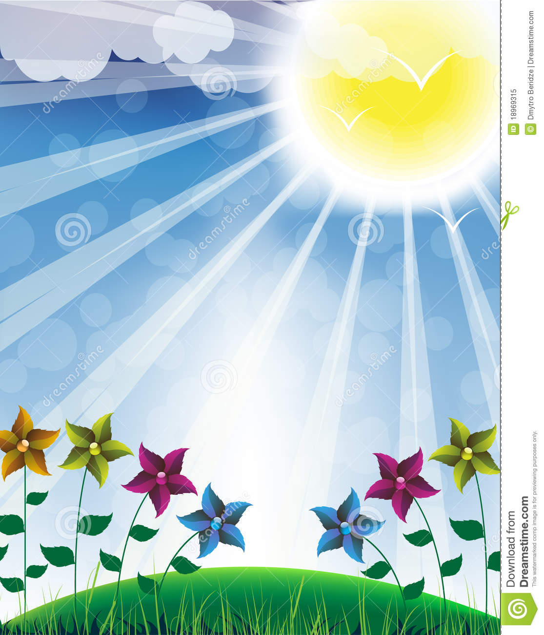 Hot Sun And Flowers Royalty Free Stock Photo Image 18969315