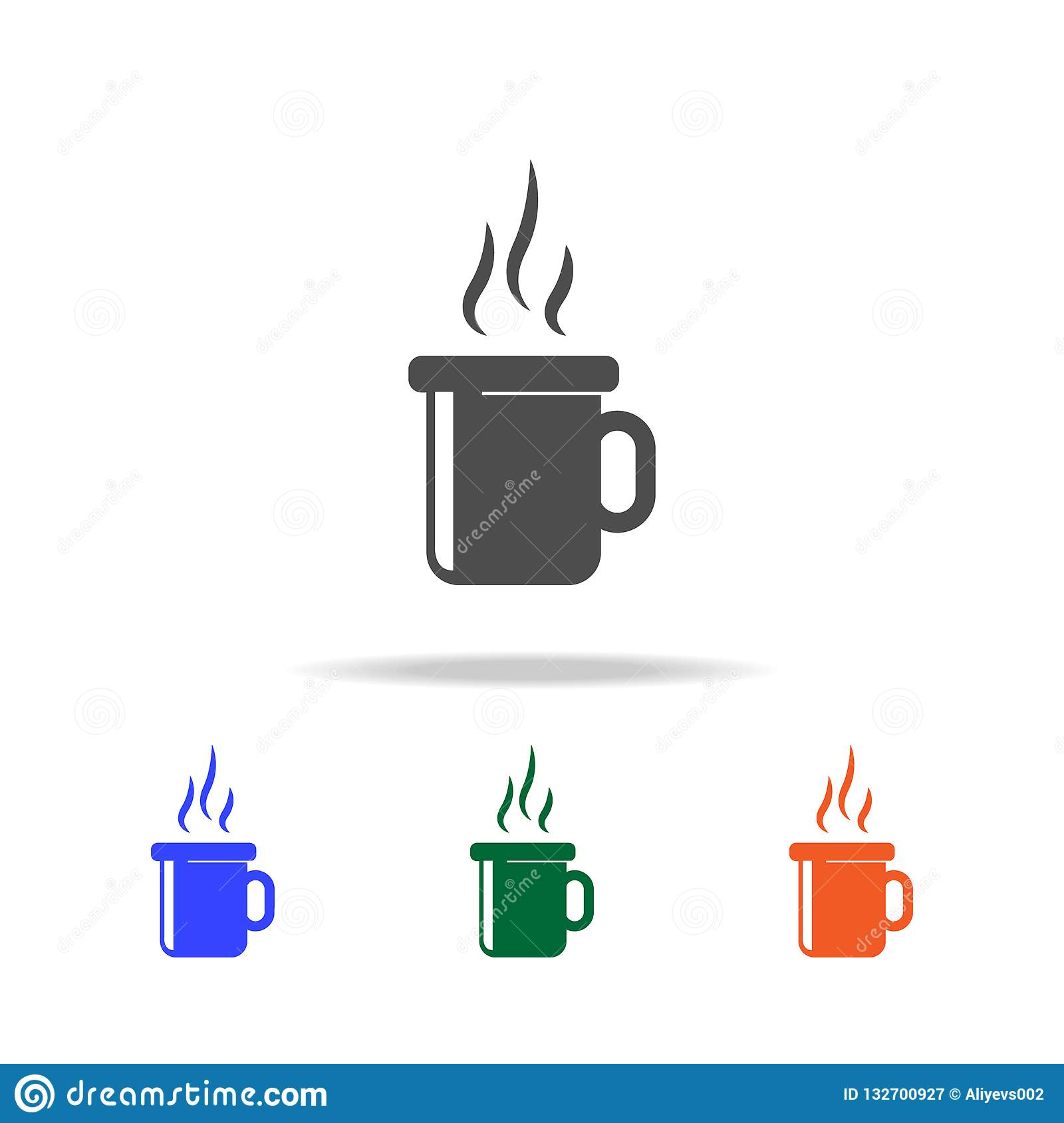 Christmas Holidays Icon.Hot Tea Cup Icon Elements Of Christmas Holidays In Multi