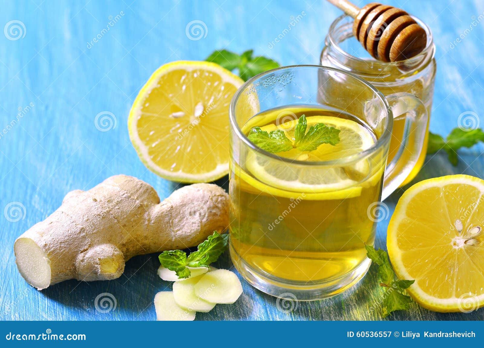 Ingwerhonig und Zitronentee zur Gewichtsreduktion