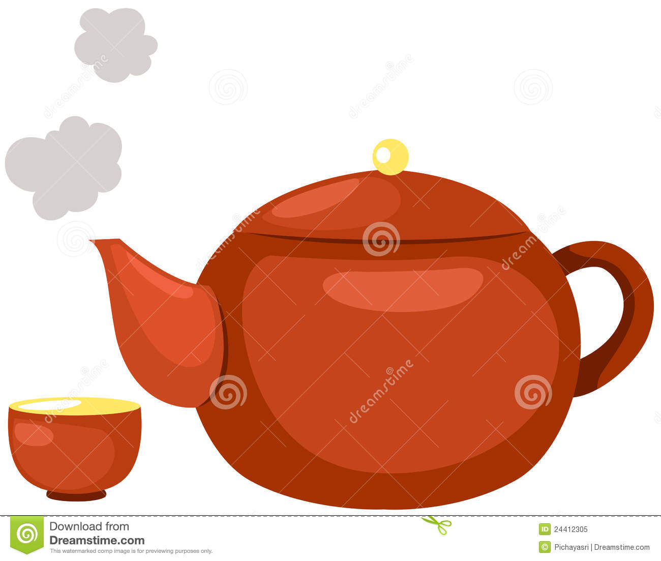 Hot Tea Pot Royalty Free Stock Photo Image 24412305