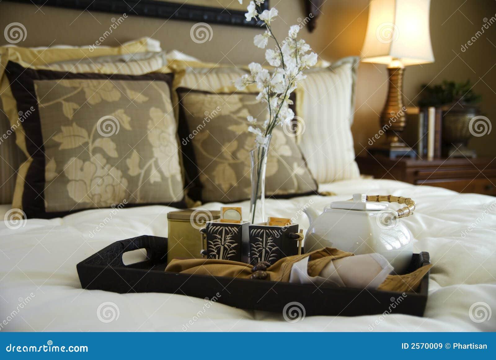Hot Tea served in bedroom
