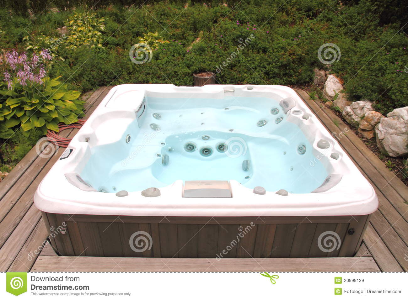 Hot Tub stock image. Image of natural, deck, outdoors - 20999139