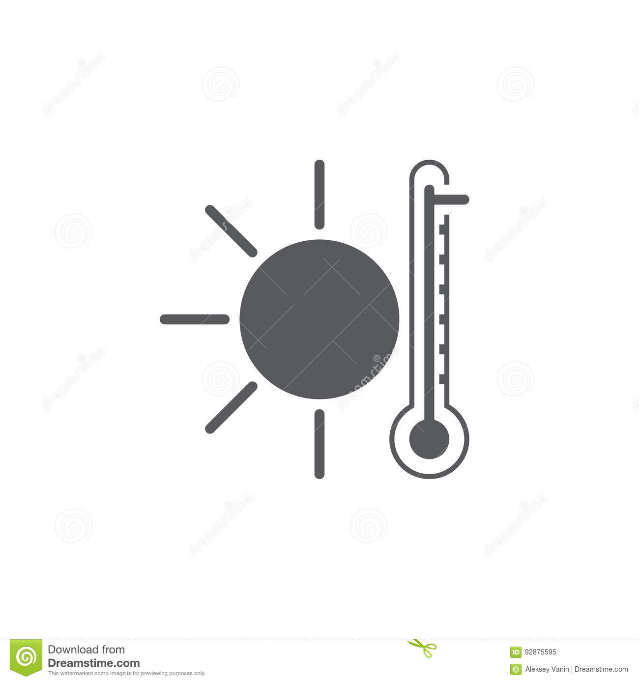 Hot Weather Icon Isolated On White Background Vector Illustration