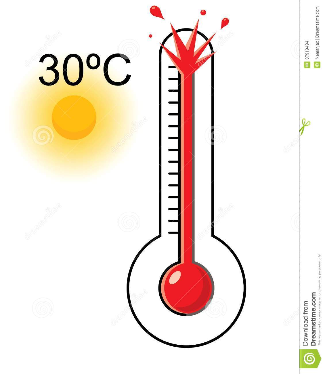 Hot weather thermomete...